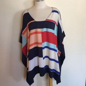 Nautical Wing Sleeved Blouse